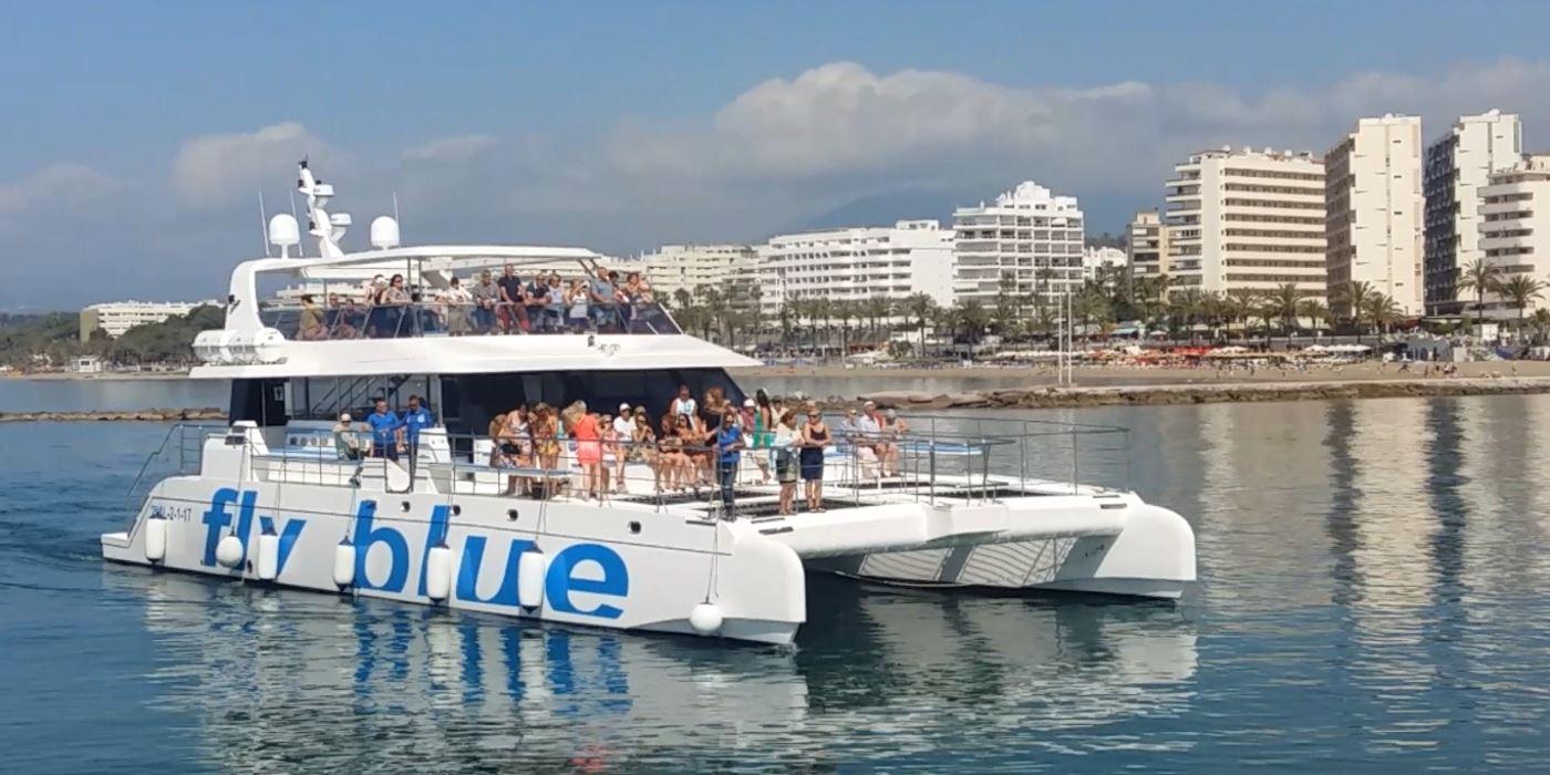 paseos barcos malaga marbella catamaran